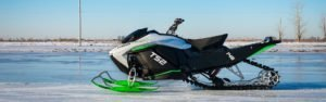 electric snowmobile by Taiga